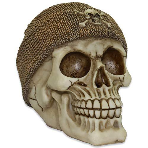 mtb more energy Hucha Hiphop MC Skully Figura Decoración del cráneo Gorro de Lana marrón