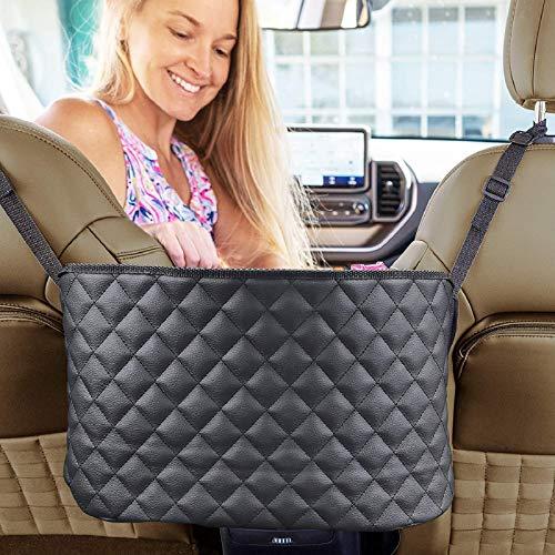 LFOTPP Autositz Aufbewahrungstasche Ablagen Opel-Grandland X Crossland X, PU Leder Netz Organizer Tasche, Interior Zubehör