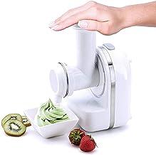 Machine à glaçons auto-refroidissante, sorbetière portable, machine à yaourt glacé aux fruits à usage domestique sorbet 3 ...