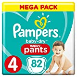 Pampers Baby Dry Pants Couche-Culotte Taille 4 (9-15kg) Méga Pack x 82 Pièces