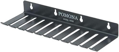 Pomona Electron 4408/POM 10-Slot Test Lead Rack Holder Black Steel No.2 Temper 1-2 Hard