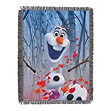 Disney Frozen 2 In The Leaves Woven Tapestry Throw Blanket, 48' x 60'