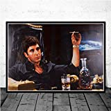 crjzty DIY Pintar por números Juego de Pintura al óleo de la película deArte clásico póster Lienzo Pintura Imagen de la Pared para decoración del hogar Carteles e Impresiones-x_CM_Unframed_