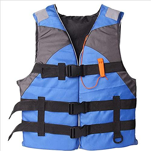 Gilets de Sauvetage pour Adultes avec sifflet, Aides à la flottabilité pour Les bouées de Natation, utilisés pour la pêche, Le Kayak, la plongée en apnée, Le Paddle Surf Blue L Code