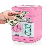 Brandless Efectivo Monedas Caja de Ahorro Cajero automático Banco Caja Fuerte Depósito automático Billete, Tipo A-Rosa