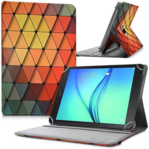 Karylax - Funda de protección y soporte universal L (tamaño 27,5 x 19 cm), diseño LM22 para Lenovo Yoga Tab 3 Plus