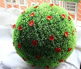 NUTY DESTY Wholesale Price!! Mixed Sizes Artificial Topiary Balls with Flowers Outdoor Hanging Baskets Grass Balls Lawns Garden Decoration Topiary Balls