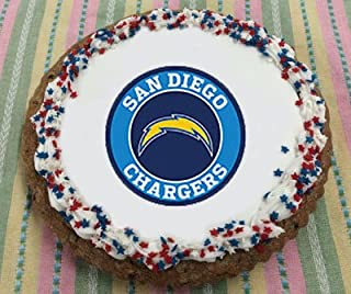 San Diego Chargers Giant Cookie Cake (Chocolate Chip, Serves 10)