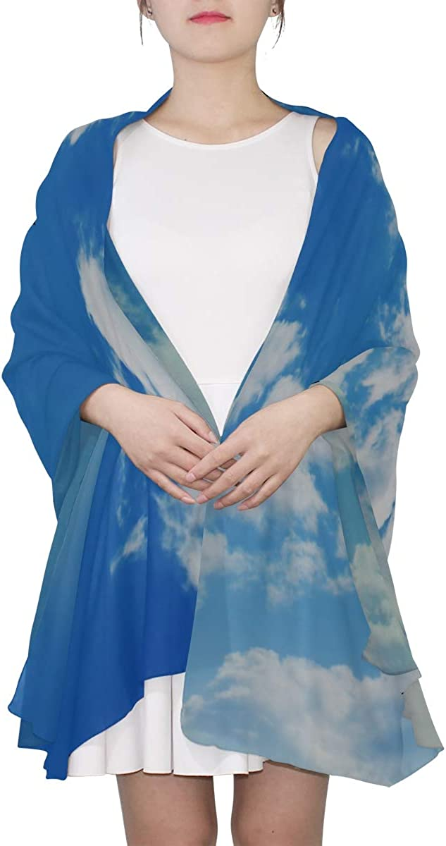 Womans Shawls Wraps Wonderful Blue Sky Cloud Fashion Scarfs For Women Lightweight Lightweight Scarf Wrap Lightweight Print Scarves Thin Scarfs For Women Lightweight Print Scarf