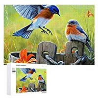 500/1000ピースパズルBlue Bird木製パズル。 大人と子供に適しています。 写真に合わせてカスタマイズできます。