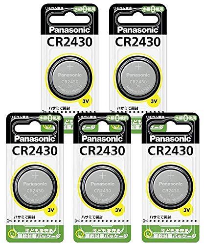 パナソニック リチウムコイン電池 5個 CR-2430P-5p