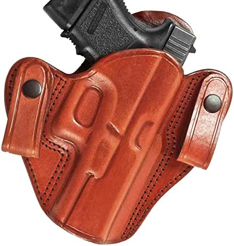 Tagua DSH-072 Browning Hi-Power Dual Snap Holster, Brown, Right