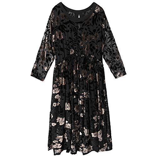 BINGQZ Cocktail Jurken Goud jacquard jurk vrouwen herfst vrouwelijke dames temperament zwart lange winter rok