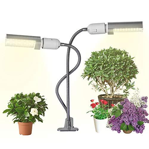 Fesjoy Grow Light for Indoor Plants LED Grow Light Grow Ampoule pour Plantes d'intérieur 20W Super Bright 100 LEDs Sunlike Full Spectrum Clip-on Desk Ampoule remplaçable Dual Head 360 ° Flexible Goos