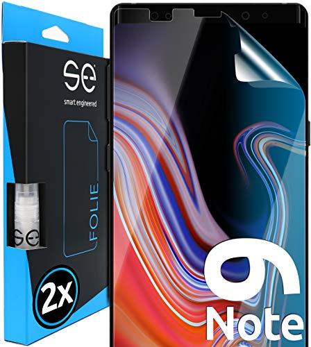 smart engineered [2 Stück] 3D Schutzfolien kompatibel mit Samsung Galaxy Note 9, hüllenfre&liche durchsichtige HD Bildschirmschutz-Folie, Schutz vor Dreck & Kratzern, kein Schutzglas