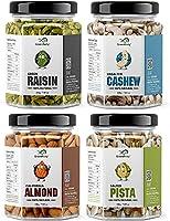 GreenFinity Dry Fruits Combo Pack - (200g * 4) 800g (Almonds, Cashews, Pistachios, Raisins) - All Premium.