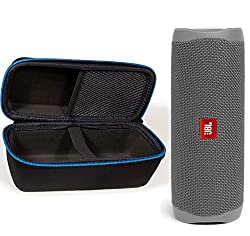 small Waterproof Portable Wireless Bluetooth Speaker JBL Flip 5 with Divvi! Protective hard shell …
