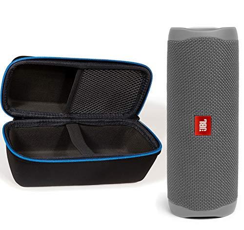 JBL Flip 5 Waterproof Portable Wireless Bluetooth Speaker Bundle with divvi! Protective Hardshell Case - Gray