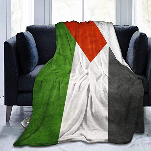 """JONINOT Manta De La Siesta Felpa Sofás Franela Bandera Palestina Retro 40""""x50"""" Buen sueño"""