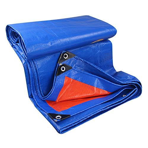 HR Tarpaulin-zeildoek van waterdichte stof, sterk gesponnen polyetheen, de schaduwdoek afdekking in de buiten-overkapping verdikt. 5x7m