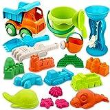 Vanplay Juguetes de Playa para Niños 19 Piezas Material de Paja de...
