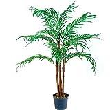 PLANTASIA® Kokos-Palme, Echtholzstamm, Kunstbaum, Kunstpflanze, Kunstpalme - 160 cm, Schadstoffgeprüft