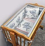 Juego de ropa de cama para cuna de bebé de 6 piezas (90 x 40) + sábana...