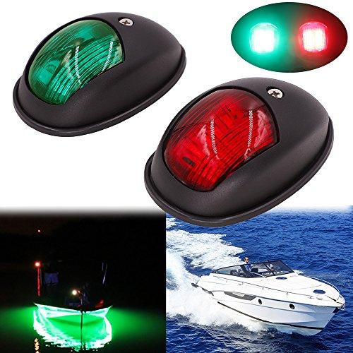 Obcursco LED Boat Navigation Lights, Boat Bow Light, Marine Boat Navigation lamp. Perfect for Pontoon, Skeeter, Power Boat and Skiff (Black)