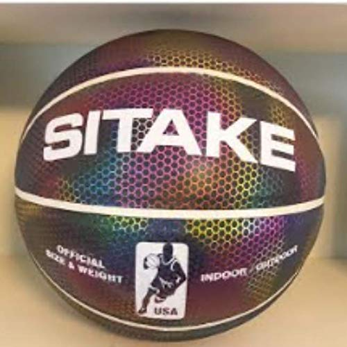 Luminous Reflective Holographic Basketball. Sink a Monster 3 Pointer at Night. NBA Size 7. Premium...