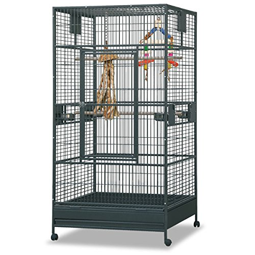 Montana Cages ®   Arkansas I - Antik, Voliere, XXL Papageienkäfig, Vogelkäfig für große Papageien