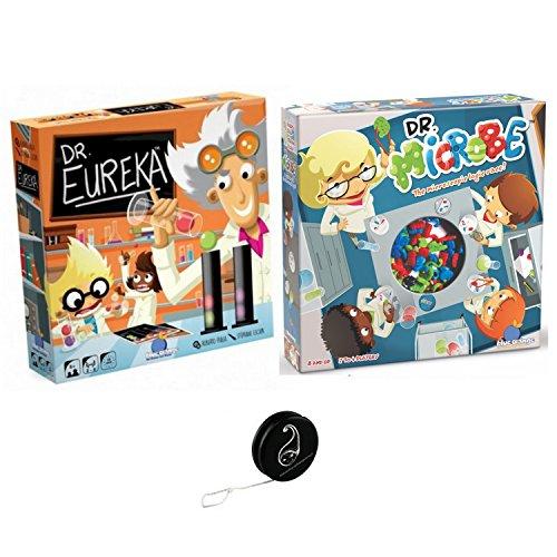 2 Spiele, Blau Orange: Dr. Eureka + Dr. Microbe + 1 Yoyo Blumie