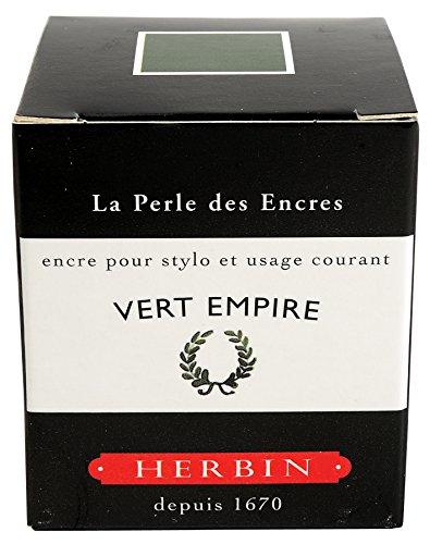 J.Herbin 13039T - Tinta para pluma estilográfica (30 ml), color verde laurel