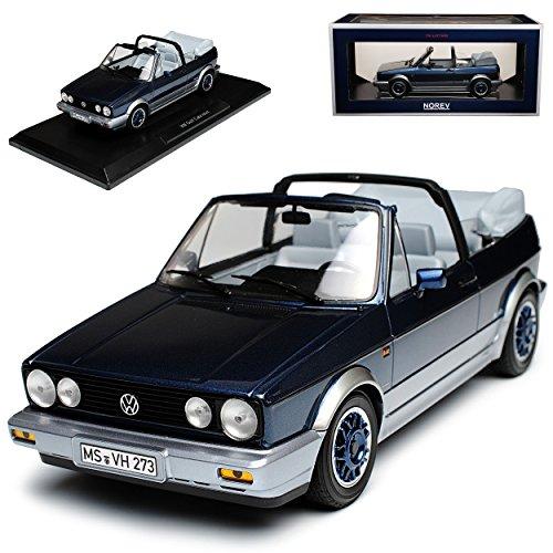 Norev Volkwagen Golf I Cabrio Bel Air Blau Metallic 1979-1993 1/18 Modell Auto