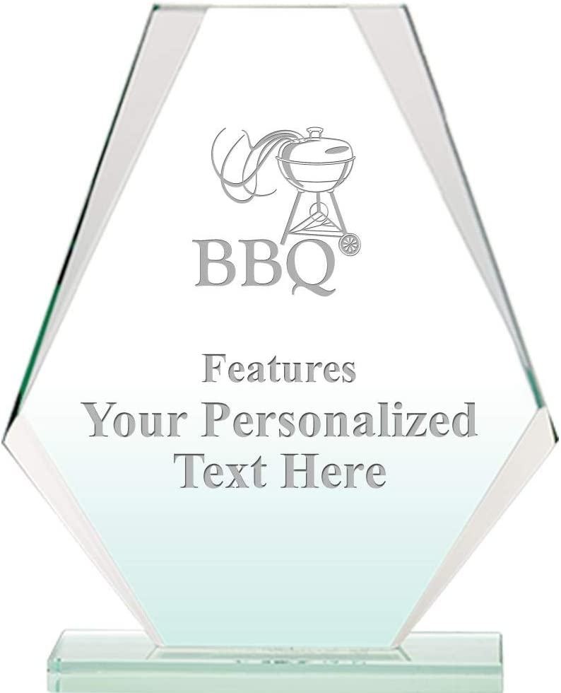 BBQ Jade Pyramid Crystal Award Max 85% OFF H Custom 6