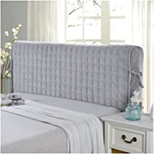 Upgrade Bed Headboard Cover Double/Single/King Size Headboard Slipcover Padded Velvet Protector Dust Cover European Cotton...