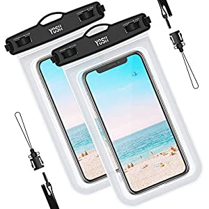 AmazonBasics Universal Waterproof Pouch for Smartphone up to 6 ...