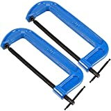 ZEONHAK 2 Pack 10 Inches C Clamp, Heavy Duty C Clamp for Woodworking, Welding, Building, 9.8 Inches Jaw Opening, 1.38 Inch Throat Depth