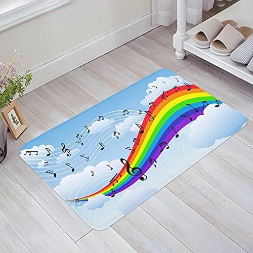 OPLJ Rayas Colorido Arco Iris Felpudo Alfombra Antideslizante Alfombrillas de baño Suaves Suministros de baño Alfombra Alfombra de Sala de Estar A1 50x80cm