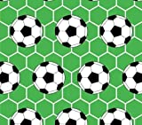 Slantastoffe Baumwollstoff Kinderstoff Fußball grün