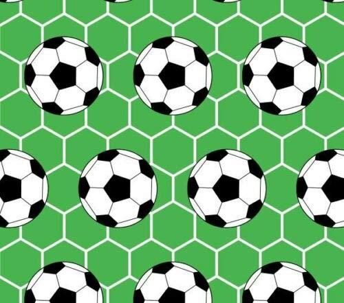 Slantastoffe Baumwollstoff Kinderstoff Fußball grün Breite 160cm ab 50 cm (1m)