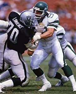 Henry Lawrence Oakland Raiders & Mark Gastineau New York Jets 8x10 Sports Action Photo