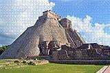 QAWY Puzzle de 1000 niños Juguetes educativos Pirámide Maya, Cancún, México Juegos Infantiles Juguetes de Ejercicio Cerebral