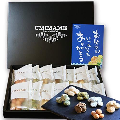 父の日 おつまみ UMIMAME(ウミマメ) 海鮮おつまみセット メッセージカード 豆7種×2の14個セット