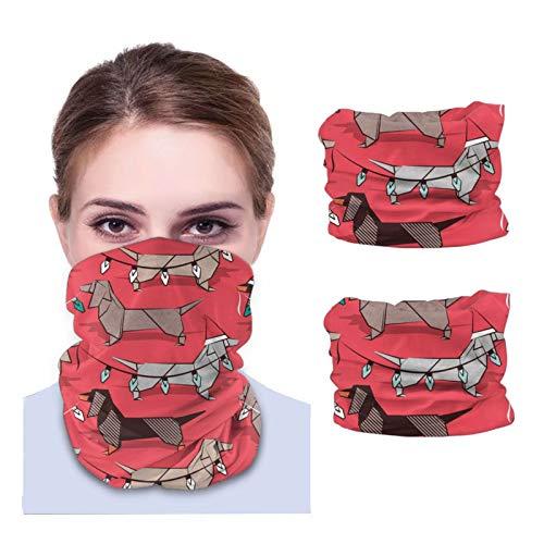 Origami - Bandanas rojas con diseño de perro salchicha salchicha