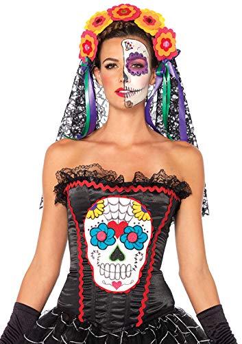 Leg Avenue Sugar Skull Bustier (S, Black)