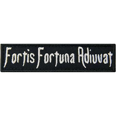 Fortis Fortuna Adiuvat La fortuna favorece a los valientes Broche Bordado de Gancho y Parche de Gancho y bucle de cierre