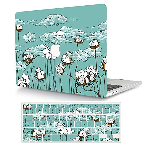 MacBook Air 11 inch Case Model A1370/A1465, AJYX Pattern Plastic Hard Shell Case Protective Cover & Keyboard Cover Skin Compatible MacBook Air 11.6'' - Cotton