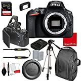 Nikon D5600 DSLR Camera Body Only (No Lens) | Built-in Wi-Fi | 24.2 MP CMOS Sensor | SnapBridge Bluetooth Connectivity | Extreme Speed 64GB Memory Card (18pc Bundle)