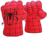 YOMI Guanti Spiderman Spiderman Smash Mani Pugno Morbido Peluche Guantoni da Allenamento per Bambini Boxe Giocattolo per Bambini Compleanno Natale