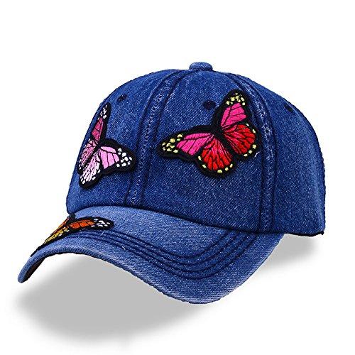 a8b5965e4c2 Deer Mum Women Casual Embroidered Butterfly Flower Baseball Cap Fashion Hat
